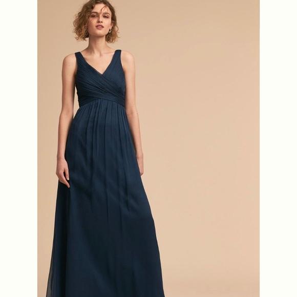 BHLDN Dresses & Skirts - BHLDN Dark Blue Bridesmaid / Prom Dress